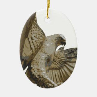 Ornement Ovale En Céramique aigle #2