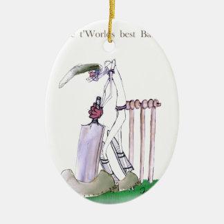 Ornement Ovale En Céramique Aimez le cricket de Yorkshire 'à la maison aux