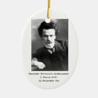 Ornement Ovale En Céramique Alexandre Borisovich Goldenweiser