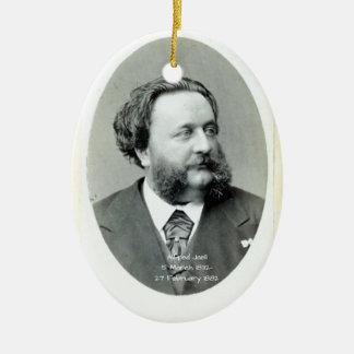 Ornement Ovale En Céramique Alfred Jaell