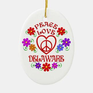 Ornement Ovale En Céramique Amour Delaware de paix