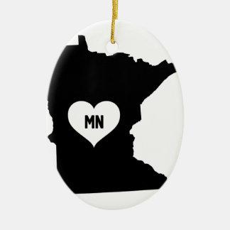 Ornement Ovale En Céramique Amour du Minnesota