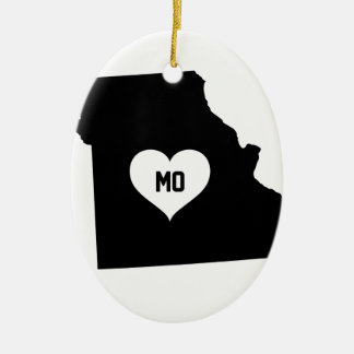 Ornement Ovale En Céramique Amour du Missouri
