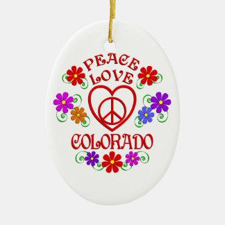 Ornement Ovale En Céramique Amour le Colorado de paix