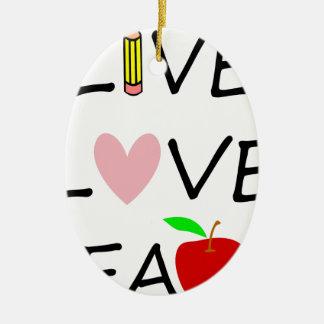 Ornement Ovale En Céramique amour vivant teach2
