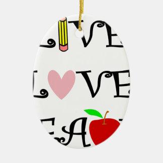 Ornement Ovale En Céramique amour vivant teach3
