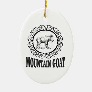 Ornement Ovale En Céramique anneau de la chèvre de montagne