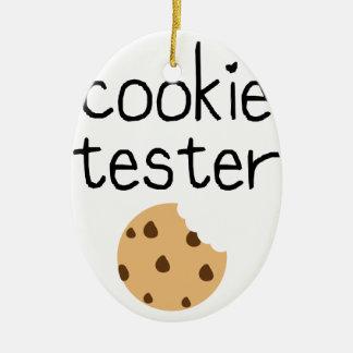 Ornement Ovale En Céramique Appareil de contrôle de biscuit