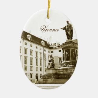 Ornement Ovale En Céramique Architecture à Vienne, Autriche