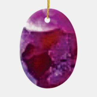 Ornement Ovale En Céramique arête rose de roche
