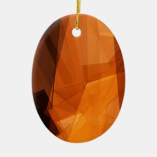 Ornement Ovale En Céramique Arrière - plan abstrait d'orange pour la
