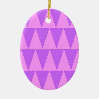 Ornement Ovale En Céramique Arrière - plan rose de pourpre de triangles