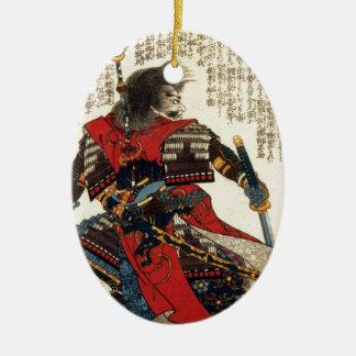 Ornement Ovale En Céramique Art classique oriental de guerrier de cool