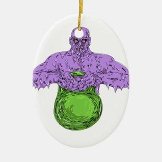 Ornement Ovale En Céramique Art de levage de crasse de Bell de bouilloire