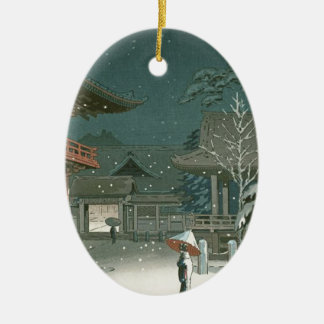 Ornement Ovale En Céramique Art de Shin Hanga de vente de tombeau de Koitsu