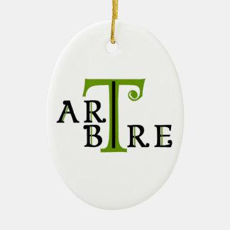 Ornement Ovale En Céramique Art en arbre artree