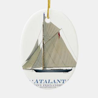 Ornement Ovale En Céramique Atalanta 1881