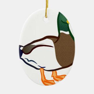 Ornement Ovale En Céramique Attente de canard