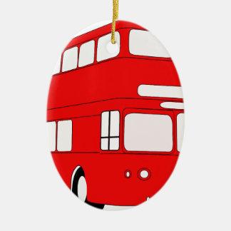 Ornement Ovale En Céramique autobus
