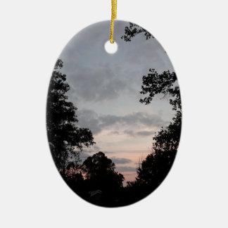 Ornement Ovale En Céramique Automnes de nuit