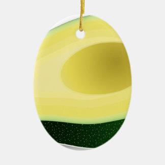 Ornement Ovale En Céramique Avocat