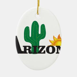 Ornement Ovale En Céramique Az de cactus