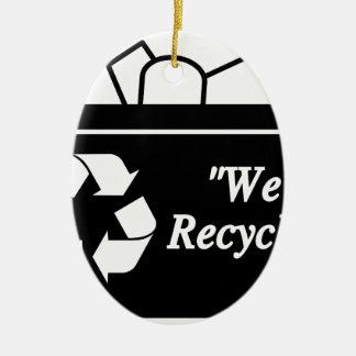 Ornement Ovale En Céramique Bac de recyclage