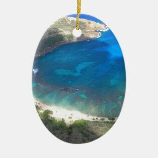 Ornement Ovale En Céramique Baie Hawaï de Hanauma