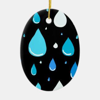 Ornement Ovale En Céramique Baisses de pluie