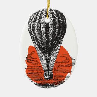 Ornement Ovale En Céramique Balloon