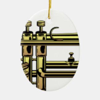 Ornement Ovale En Céramique Bande dessinée de trompette