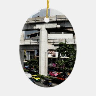 Ornement Ovale En Céramique Bangkok