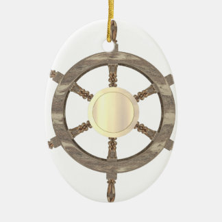 Ornement Ovale En Céramique Barre maritime