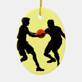 Ornement Ovale En Céramique basket-ball