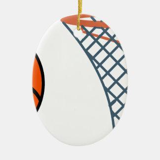 Ornement Ovale En Céramique Basketball2