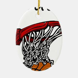 Ornement Ovale En Céramique Basketball3