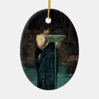 Ornement Ovale En Céramique Beaux-arts victoriens, Circe Invidiosa par le
