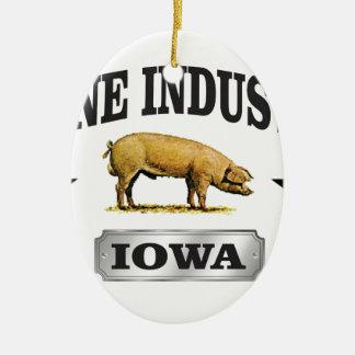 Ornement Ovale En Céramique bébé d'industrie de porcs