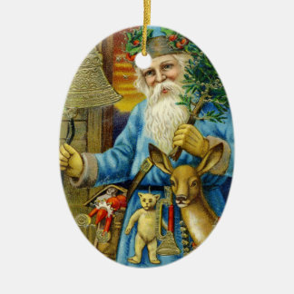 Ornement Ovale En Céramique Bébé premier de Vieux Monde de St Nickolas du père