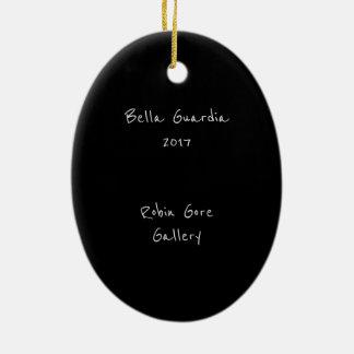 Ornement Ovale En Céramique Bella Guardia