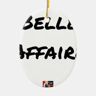 Ornement Ovale En Céramique BELLE AFFAIRE - Jeux de mots - Francois Ville