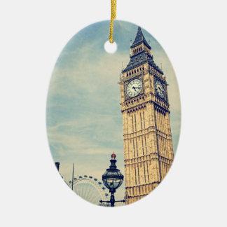 Ornement Ovale En Céramique Big Ben