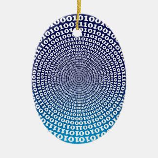 Ornement Ovale En Céramique Binaire de Conentric