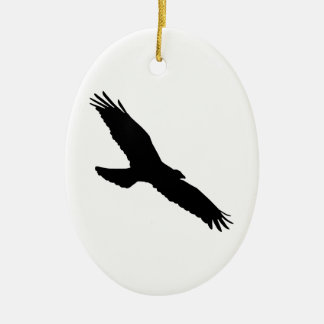 Ornement Ovale En Céramique Bird - Oiseau (01)