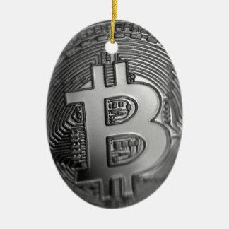 Ornement Ovale En Céramique Bitcoin 16