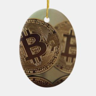 Ornement Ovale En Céramique Bitcoin 17