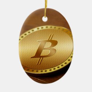 Ornement Ovale En Céramique Bitcoin 2