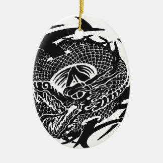 Ornement Ovale En Céramique Black Dragon 2.gif