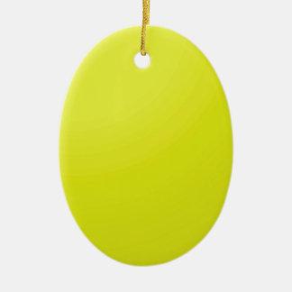 Ornement Ovale En Céramique Blancs d'or jaunes d'ombre de couleur : Ajoutez