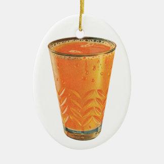 Ornement Ovale En Céramique Boissons vintages, verre de petit déjeuner de jus